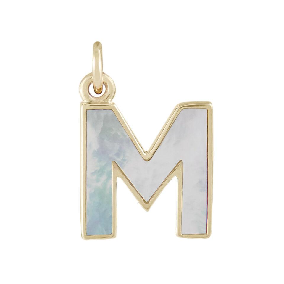 Metier, Pearl Initial Plaque, tomfoolery