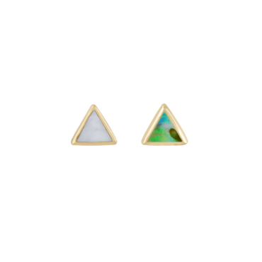 metier by tomfoolery: Bezel Mother of Pearl Mini Triangle Stud