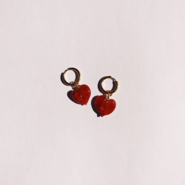Ninfa Handmade, Heart Hoop Earrings