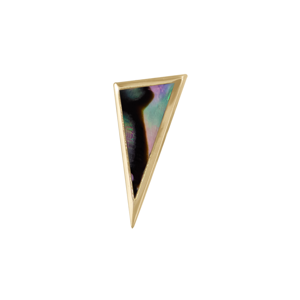 metier by tomfoolery, Mother of Pearl Elongated Bezel Triangle Stud .2