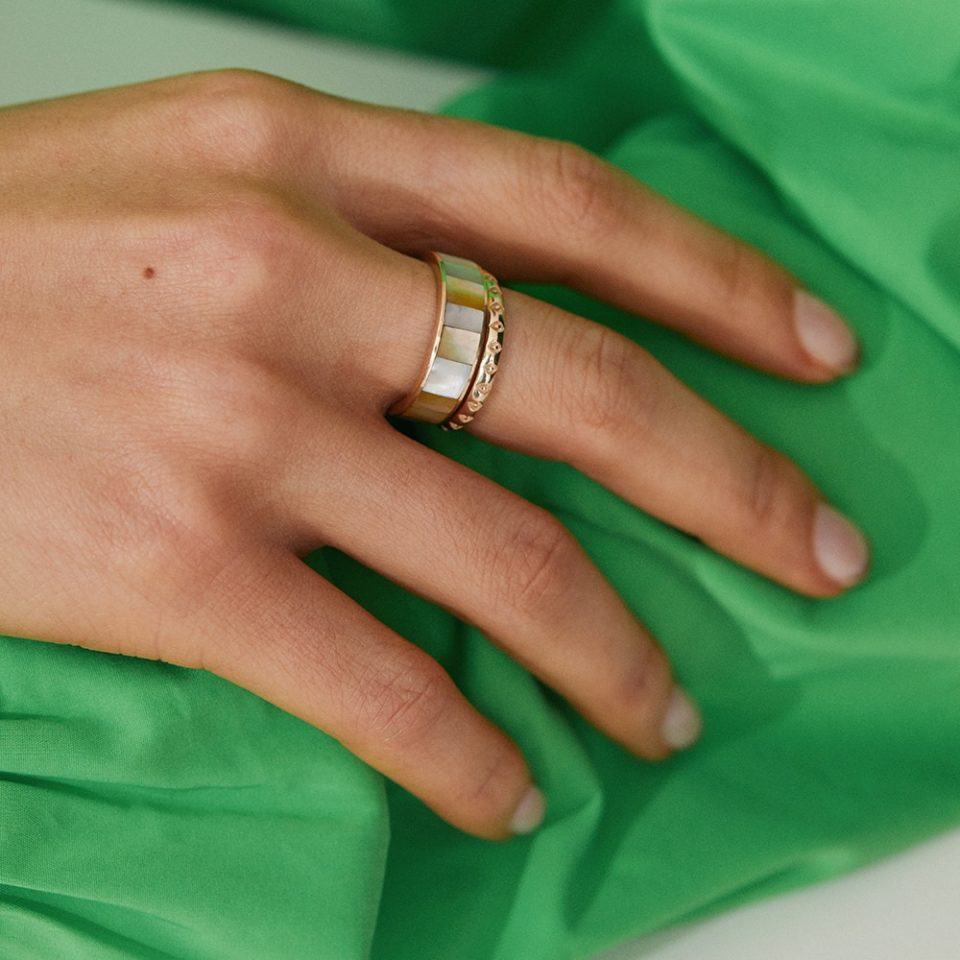 metier by tomfoolery:White Mother of Pearl Wide Ring
