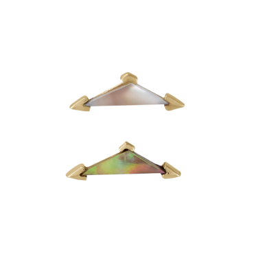 metier by tomfoolery: Mother of Pearl Elongated Triangle Stud .1