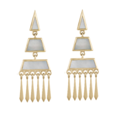 metier by tomfoolery: Mother of Pearl Tassel 0.6 Earrings