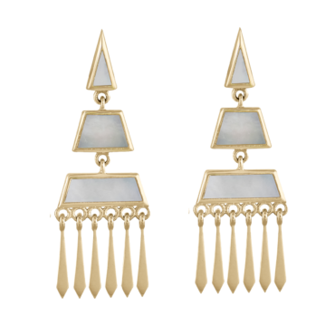 metier by tomfoolery: Mother of Pearl Tassel 0.6 Earrings