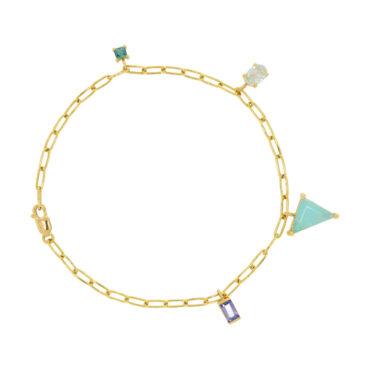 Mixed Cut Gemstone Bracelet by muse, Tomfoolery London