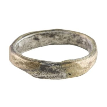 Tomfoolery - Franny E - 14ct & Silver Organic Textured 6mm Ring