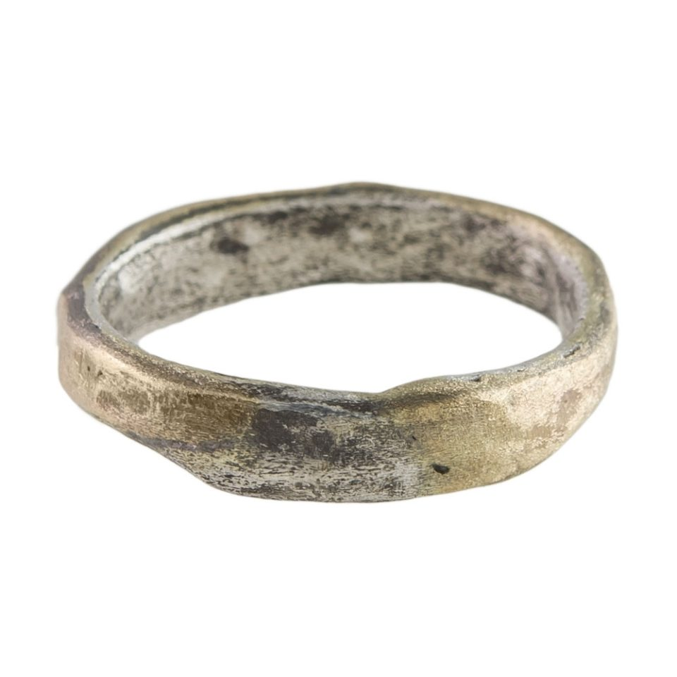 Tomfoolery - Franny E - 14ct & Silver Organic Textured 9mm Ring
