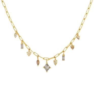 tomfoolery jewellery gallery: Mixed Cut Diamond Necklace