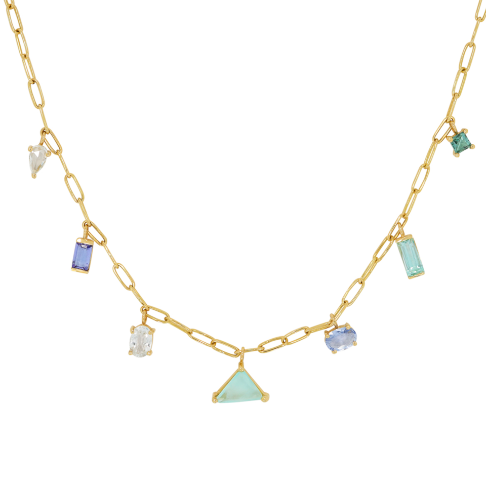 Mixed Cut Gemstone Necklace by Muse: tomfoolery london