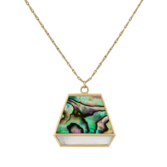 tomfoolery jewellery gallery: metier by tomfoolery Mother of Pearl Duo Trapezoid Plaque + Lille Chain