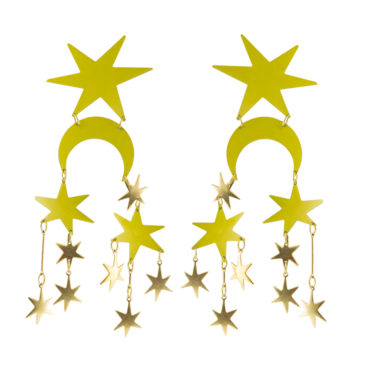 Starburst Chartreuse Drop Earrings, We Dream In Colour, Tomfoolery