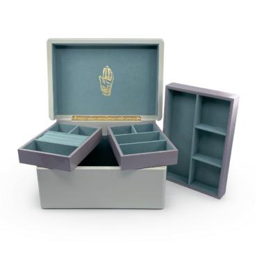 Trunk Jewellery Box in Mint by Trove, tomfoolery London   www.tomfoolerylondon.co.uk