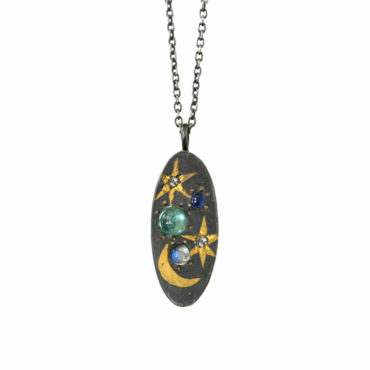 Oval scapescape coin pendant by Acanthus available to shop online at tomfoolery London   www.tomfoolerylondon.co.uk
