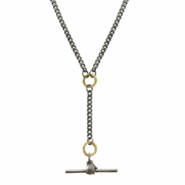 Toggle charm holder necklace by Acanthus available to shop online at tomfoolery London   www.tomfoolerylondon.co.uk