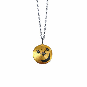 Celestial coin pendant by Acanthus available to shop online at tomfoolery London   www.tomfoolerylondon.co.uk