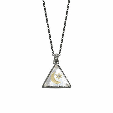 North star small triangle amulet necklace by Acanthus available to shop online at tomfoolery London | www.tomfoolerylondon.co.uk