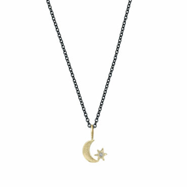 Crescent Star amulet necklace by Acanthus available to shop online at tomfoolery London | www.tomfoolerylondon.co.uk