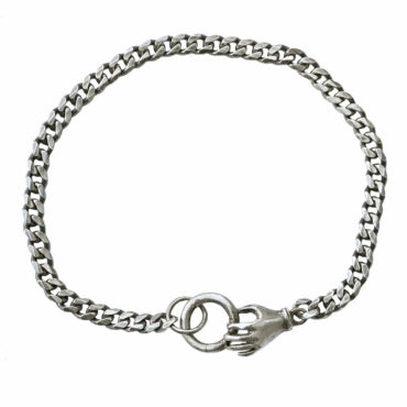 Single hand charm holder bracelet by Acanthus available to shop online at tomfoolery London   www.tomfoolerylondon.co.uk