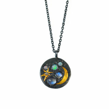 Medium scapescape coin pendant by Acanthus available to shop online at tomfoolery London   www.tomfoolerylondon.co.uk