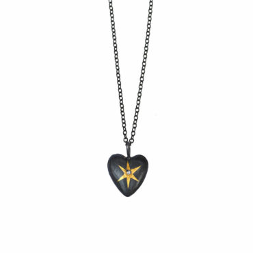 Heart wrapped star pendant by Acanthus available to shop online at tomfoolery London | www.tomfoolerylondon.co.uk