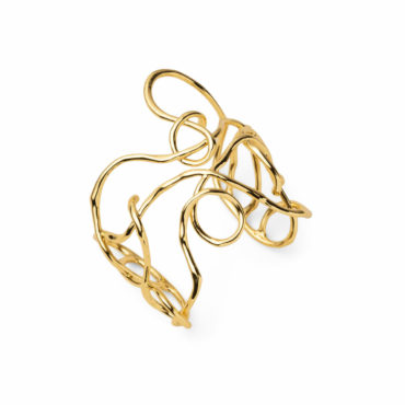 Twisted Gold Large Cuff Bracelet - Alexis Bittar - tomfoolery London