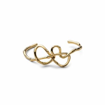 Twisted Gold Small Cuff Bracelet - Alexis Bittar - tomfoolery London