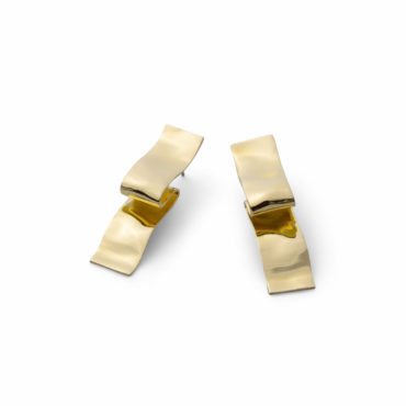 Twisted Gold Folded Ribbon Post Earring - Alexis Bittar - tomfoolery London