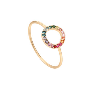 Rainbow Fade Ring  by tomfoolery london 14ct series available to shop online at www.tomfoolerylondon.co.uk