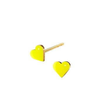 Tiny Heart studs earrings in enamel by Scherning, tomfoolery London   www.tomfoolerylondon.co.uk