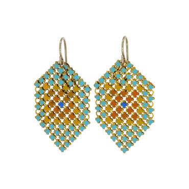 Aqua Sun Drop Earrings by Maral Rapp, tomfoolery London | www.tomfoolerylondon.co.uk