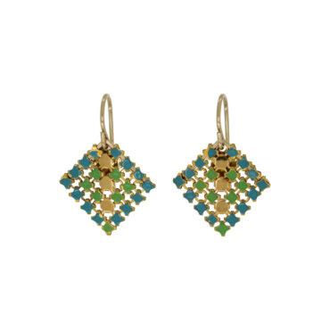 Mini Tux Drop Earrings in Spring Green by Maral Rapp, tomfoolery London | www.tomfoolerylondon.co.uk