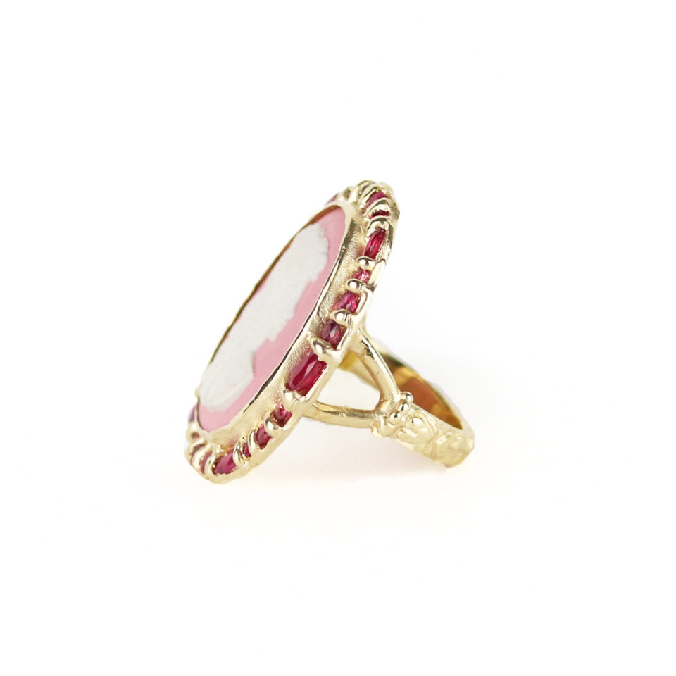 Ruby and Wedgewood Cameo Nell Ring by Ciara Bowles available at tomfoolery London   www.tomfoolerylondon.co.uk