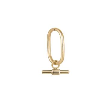 T-bar plaque clicker hoop by metier by tomfoolery. Shop metier by tomfoolery online at tomfoolerylondon.co.uk