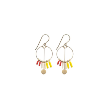Sunray Hoop drop earrings by I. Ronni Kappos available at tomfoolery London   www.tomfoolerylondon.co.uk