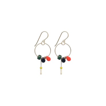 Meadow Charm Hoop drop earrings by I. Ronni Kappos available at tomfoolery London   www.tomfoolerylondon.co.uk