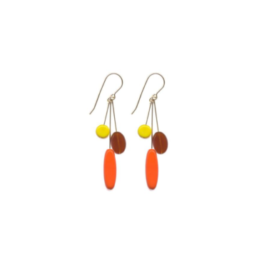 Orange Eclipse Cluster drop earrings by I. Ronni Kappos available at tomfoolery London | www.tomfoolerylondon.co.uk