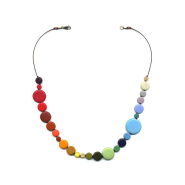 Rainbow Dots necklace by I. Ronni Kappos available at tomfoolery London | www.tomfoolerylondon.co.uk