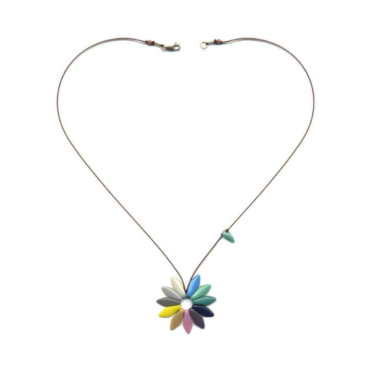 Flower necklace by I. Ronni Kappos available at tomfoolery London | www.tomfoolerylondon.co.uk