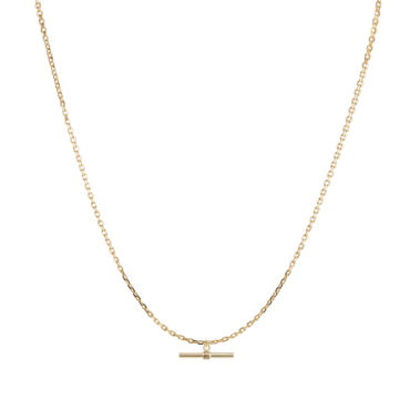 """28"""" T BAR NECKLACE by metier by tomfoolery. Shop metier by tomfoolery online at tomfoolerylondon.co.uk"""