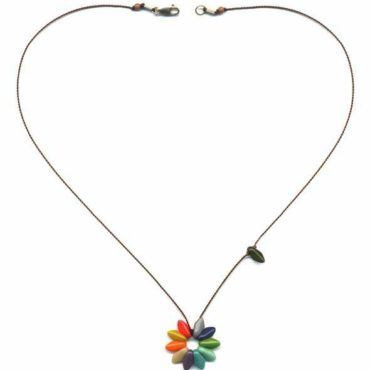 Small Flower necklace by I. Ronni Kappos available at tomfoolery London | www.tomfoolerylondon.co.uk