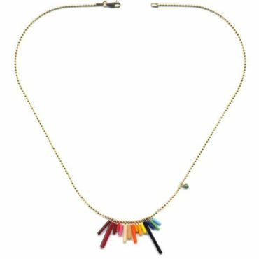 Mini Rainbow chain necklace by I. Ronni Kappos available at tomfoolery London | www.tomfoolerylondon.co.uk