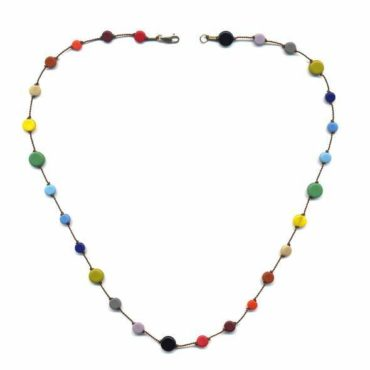 Multi Circles necklace by I. Ronni Kappos available at tomfoolery London | www.tomfoolerylondon.co.uk