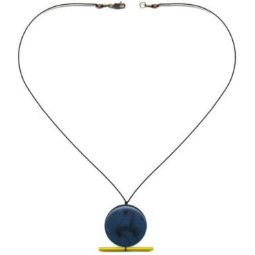 Blue Moon with yellow line necklace by I. Ronni Kappos available at tomfoolery London | www.tomfoolerylondon.co.uk