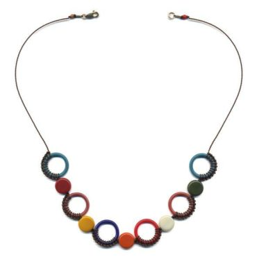 Knotted circles necklace by I. Ronni Kappos available at tomfoolery London | www.tomfoolerylondon.co.uk