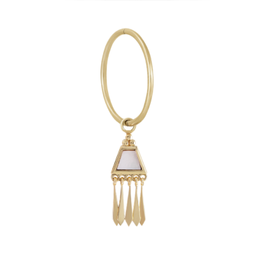 tomfoolery: metier by tomfoolery Large seamless clicker hoop with mother of pearl Tassel Plaque.5