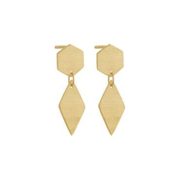 Tomfoolery, Double Hex & Kite Drop Earrings, Everyday by tomfoolery