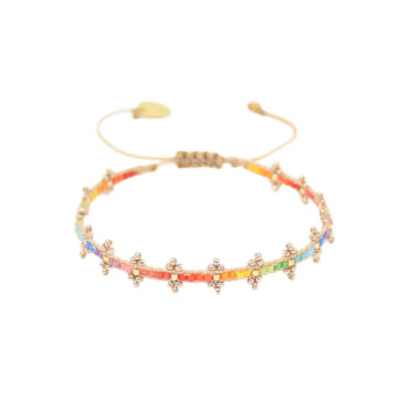 Rainbow Shanty Friendship Bracelet by Mishky available to shop online at tomfoolery London