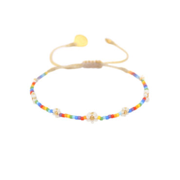 Daisy Rainbow Friendship Bracelet by Mishky available to shop online at tomfoolery London