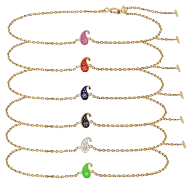 Enamel 2.1 Dala Adjustable Bracelets by metier by tomfoolery. Shop metier by tomfoolery online at tomfoolerylondon.co.uk