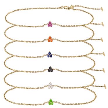 Enamel 2.2 Dala Adjustable Bracelets by metier by tomfoolery. Shop metier by tomfoolery online at tomfoolerylondon.co.uk